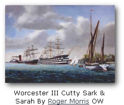 Worcester III Cutty Sark &  Sarah By Roger Morris OW